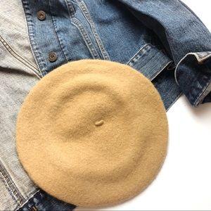 FR Wool Tan Brown Khaki French Beret Hat Unisex OS
